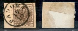 Antichi Stati Italiani - Lombardo Veneto - 1850 - 30 Cent (7) - Usato A Padova - Con Filigrana - Bordo Foglio (9 Mm.) A  - Francobolli