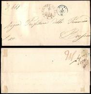 Antichi Stati Italiani - Lombardo Veneto - Caino (azzurro - P.ti 5) - Piego In Franchigia Per Brescia Del 5.9.62 - Francobolli