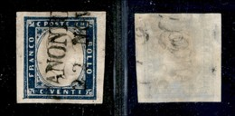 Antichi Stati Italiani - Lombardo Veneto - Canonica (P.ti 10) - 20 Cent (15B - Sardegna) - Stamps