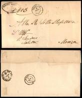 Antichi Stati Italiani - Lombardo Veneto - Capriano (P.ti 5) - Piego In Franchigia Per Monza Del 2.12.61 - Stamps