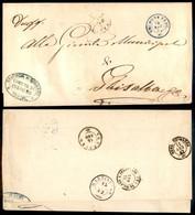 Antichi Stati Italiani - Lombardo Veneto - Cologno Berg. (azzurro - P.ti 5) - Piego In Franchigia Per Ghisalba Del 14.8. - Stamps