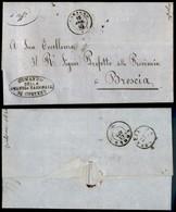Antichi Stati Italiani - Lombardo Veneto - Corteno (P.ti 5) - Lettera In Franchigia Per Brescia Del 15.4.62 - Stamps