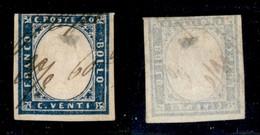 Antichi Stati Italiani - Lombardo Veneto - Grafico A Penna Con Data 20/8.60 - 20 Cent (15Ca - Sardegna) Corto In Basso E - Stamps