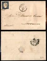 Antichi Stati Italiani - Lombardo Veneto - Milano 11 Apr. 60 - 20 Cent (15Ca - Sardegna) Su Lettera Per Livorno - Francobolli