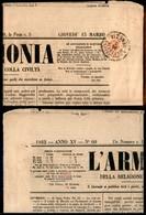 Antichi Stati Italiani - Lombardo Veneto - Segnatasse Per Giornali - 2 Kreuzer (3) Corto In Alto - Testata Di Giornale D - Francobolli