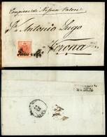 Antichi Stati Italiani - Territori Italiani D'Austria - Riva (P.ti 4) - 3 Kreuzer (3) Su Lettera Per Verona Del 22.12.50 - Stamps
