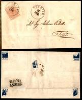 Antichi Stati Italiani - Territori Italiani D'Austria - Stenico (P.ti 4) - 3 Kreuzer (3) Su Lettera Per Trento Del 13.8. - Francobolli