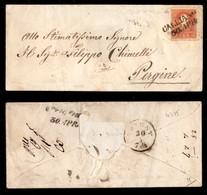 Antichi Stati Italiani - Territori Italiani D'Austria - Calliano (P.ti 3) - 5 Kreuzer (8) Su Bustina Per Pergine - Stamps