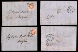 Antichi Stati Italiani - Territori Italiani D'Austria - Pergine - Due Lettere D'archivio Per Bolzano Col 5 Kreuzer (29) - Stamps