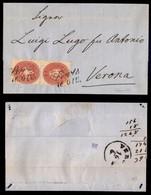 Antichi Stati Italiani - Territori Italiani D'Austria - Lavis - Coppia Del 5 Kreuzer (29) Su Lettera Per Verona Del 16.6 - Stamps