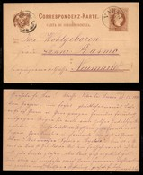 Antichi Stati Italiani - Territori Italiani D'Austria - Vahrn (P.ti 6) - Cartolina Postale Da 2 Kreuzer Per Neumarkt Del - Francobolli