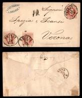 Antichi Stati Italiani - Territori Italiani D'Austria - Busta Postale Da 5 Kreuzer Con Due 5 Kreuzer (34) Da Trieste A V - Stamps