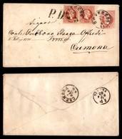 Antichi Stati Italiani - Territori Italiani D'Austria - Busta Postale Da 5 Kreuzer Con Coppia Del 5 Kreuzer (34) Da Rove - Stamps
