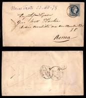 Antichi Stati Italiani - Territori Italiani D'Austria - Vigo In Fassa (bruno Rossastro - P.ti 11) - Busta Postale Da 10  - Stamps