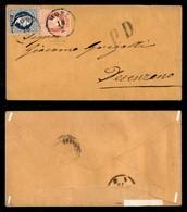 Antichi Stati Italiani - Territori Italiani D'Austria - Mori - 10 Kreuzer (35) + 5 Kreuzer (34) - Busta Per Desenzano De - Stamps