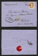 Antichi Stati Italiani - Territori Italiani D'Austria - 15 Kreuzer (36) Su Raccomandata Da Rovereto A Vienna Del 9.1.72 - Francobolli