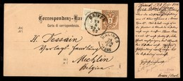 Antichi Stati Italiani - Territori Italiani D'Austria - Brixen - Cartolina Postale Per Il Belgio Del 23.6.85 - Stamps