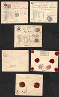 Antichi Stati Italiani - Territori Italiani D'Austria - Buste Speciali Per Denaro - Tre Buste Affrancate Da Ala Verona E - Stamps