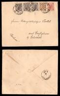 Antichi Stati Italiani - Territori Italiani D'Austria - Gries Bei Bozen - Tricolore (50 Tre + 51 + 52) Su Busta Per Lobs - Stamps