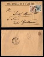 Antichi Stati Italiani - Territori Italiani D'Austria - Villagrande Tirolo - Busta Per Calliano Del 1.6.96 (51 + 52) - Stamps