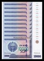 Uzbekistan Lot Bundle 10 Banknotes 10000 Sum 2017 Pick 84 SC UNC - Uzbekistán