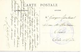 47- Cachet Hôpital N°99 Bis De Marmande Sur CP Du Couvent Devenu Hôpital (texte)en 14/18 - Marcophilie (Lettres)
