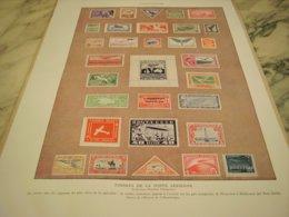 ANCIENNE PUBLICITE  TIMBRE POSTE  AERIENNE 1932 - Pubblicitari