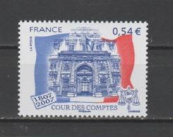 FRANCE / 2007 / Y&T N° 4028 ** : Cour Des Comptes (gommé) X 1 - Gomme D'origine Intacte - Frankreich