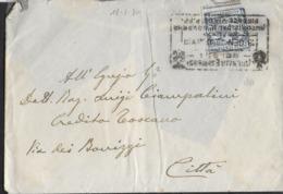 STORIA POSTALE REGNO - RECAPITO AUTORIZZATO CENT 10 (SS2) SU BUSTA DA FIRENZE 18.01.1930 - AGENZIA FIRENZE - Poststempel