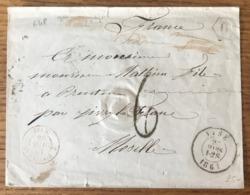 Lettre De Visé Pour La France - Ambulant BELG. AMB. CALAIS J - (B1512) - Ambulants