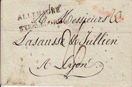 Lettre De SMYRNE Du 15.12.1814 - Passage Par Semlin En Hongrie - Peroforations Et Cachet De Purification - Marcophilie (Lettres)