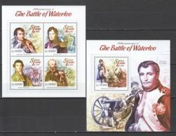 VV519 2015 SIERRA LEONE HISTORY 200TH ANNIVERSARY OF THE BATTLE OF WATERLOO 1KB+1BL MNH - Révolution Française