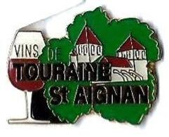 VINS DE TOURAINE ST AIGNAN - V2 - Verso : N° TEL. - Beverages