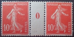 R1189/210 - 1910 - TYPE SEMEUSE - N°138 (IA) Mill.0 - TIMBRES NEUFS** - Millésimes