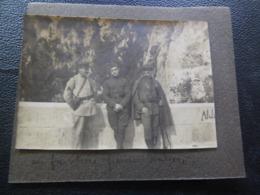 Photo Avec Un Douanier Et 1 Soldat Américain Et Italien - Zoll