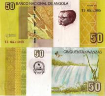 ANGOLA 50 Kwanzas, 2012 - Dos Santos & Neto, Cuemba Falls, P152 , UNC - Angola