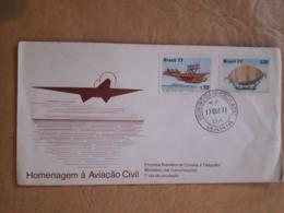 Brésil Fdc Aviation Civile - Aviones