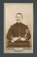 BESANCON (25) Photo Ancienne CDV Par DELOCH  Militaire 4ème Régiment Sur Col Vareuse - - Guerre, Militaire