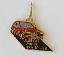 1 Pin's AUTOMOBILE - CLUB GTI PARIS 17-10-88 - Peugeot