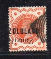 Y436 - ZULULAND 1888 , Yvert N. 1  Usato (2380A) . Visibile Stampa Capovolta Zanzibar (?) - Zululand (1888-1902)