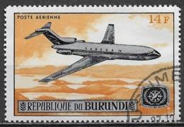 Burundi 1967. Scott #C56 (U) Boeing 727 Of Sabena Over Lake & ITY Emblem - Burundi