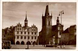 Leitmeritz - Stadtplatz Mit Rathaus U. Stadttheater * 21. 7. 1939 - Tschechische Republik