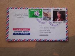 Enveloppe Du Costa Rica Distribuée En Argentine Avec Beaucoup De Timbres - Costa Rica