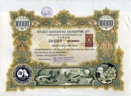 Italian-Bulgarian Export Company Guardini & Faccincani S.A.,1939 - Actions & Titres