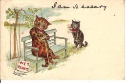 Louis Wain, Wet Paint. - Chats