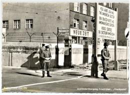 MA19 Germania Cartolina Postale Originale - Berlino, Friedrichstrasse - Checkpoint. Non Viaggiata / Unused - Militares