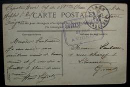 Avignon Hôpital Annexe Saint Ruf 1914 Cachet Rectangulaire Sur Carte Postale - Marcophilie (Lettres)