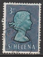 St Helena 1961 Queen Elizabeth II - Local Motives 3 P Violet/blue SW 157 O Used - Saint Helena Island