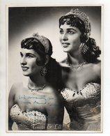 C3083/ Tonita & Lill Mit Autogramm Im Hansa Theater, Hamburg Foto 1958 Artisten - Altri