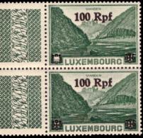 Luxembourg OC 32** MNH Vues Surchargée - 1940-1944 Deutsche Besatzung